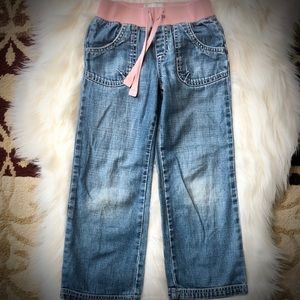 Old Navy Girls Pink Elastic Waist Jeans
